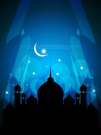 relegion: abstract colorful eid background with mosque.