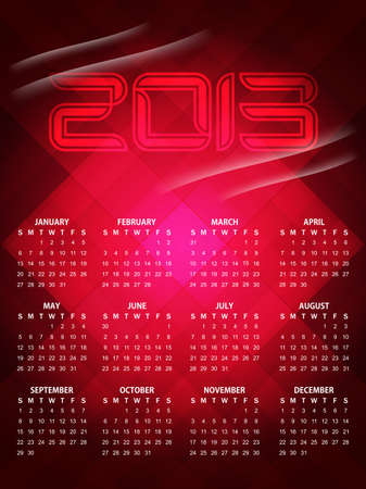 beautiful calendar design for 2013 Stock Vector - 16243116
