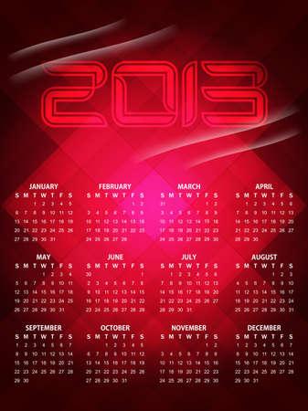 beautiful calendar design for 2013 Illustration