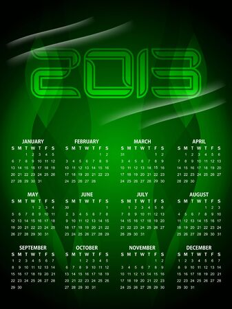beautiful calendar design for 2013 Stock Vector - 16243113