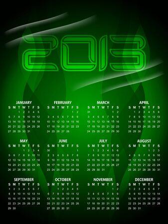 beautiful calendar design for 2013 Stock Vector - 16243113
