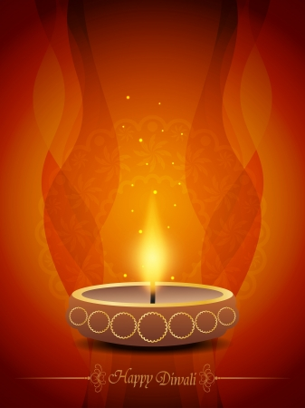 diwali background: Colorful background design with beautiful lamp for diwali festival. Illustration