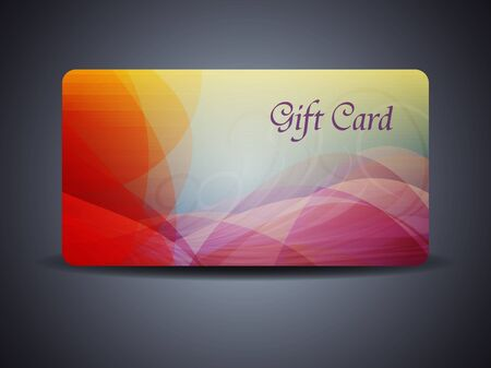 abstract beautiful gift card design with colorful waves. Vector