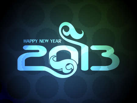 creative colorful happy new year 2013 design. Vector
