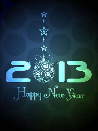 Beautiful new year 2013 background design with Christmas ball  Vector