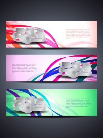 set of abstract  web header/banner designs for 2013 Stock Vector - 16481438