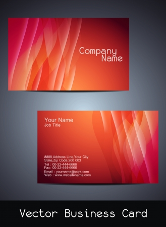 visiting card design: Presentation of visiting card design Illustration