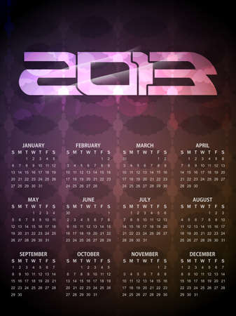 Beautiful calendar design for 2013  Stock Vector - 16505420