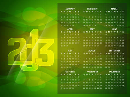 Beautiful calendar design for 2013  Stock Vector - 16505397