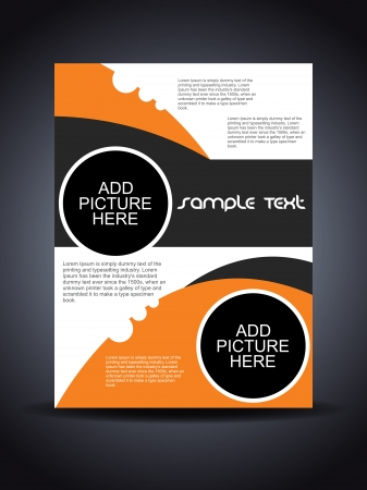 halftone cover: Presentation of creative flyer or cover design.