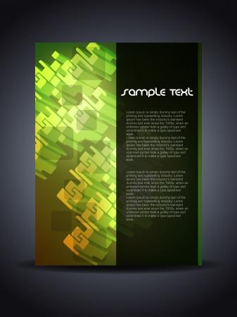 Presentation of creative flyer or cover design. Stock Vector - 16560309