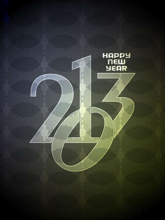 Colorful happy new year 2013 design. Vector