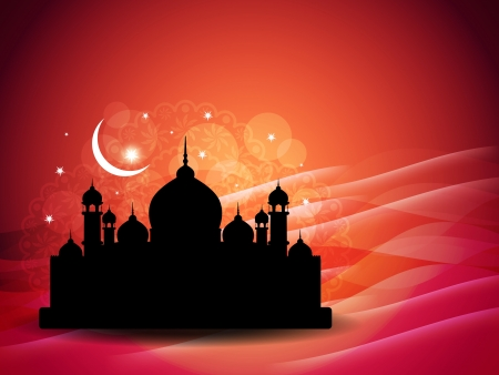 illustration of abstract beautiful religious eid background. Vector