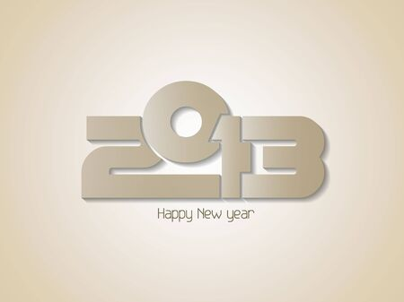 Creative happy new year 2013 design background Stock Vector - 16888433