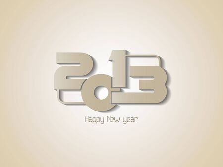 Creative happy new year 2013 design background Stock Vector - 16888434