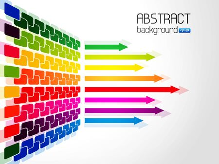 Abstract colorful arrow background Vector