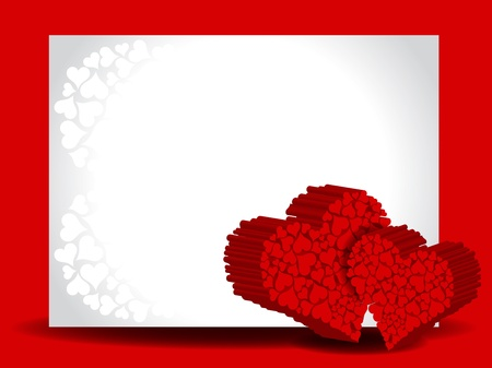 Beautiful heart background. Vector
