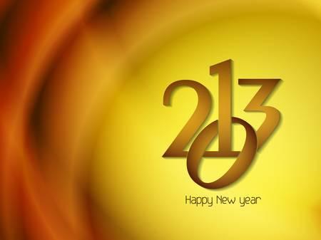 Beautiful happy new year 2013 design. Stock Vector - 17070866