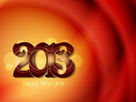 Beautiful happy new year 2013 design. Stock Vector - 17070868