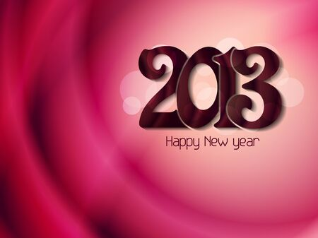 Beautiful happy new year 2013 background design Stock Vector - 17070867