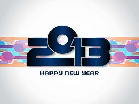 Beautiful happy new year 2013 background design Vector