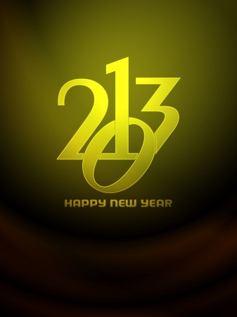 Beautiful happy new year 2013 background design Stock Vector - 17070871
