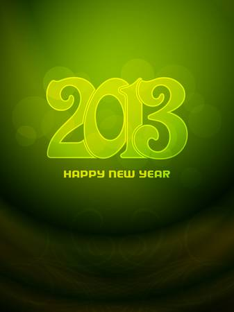 Beautiful happy new year 2013 background design Stock Vector - 17070877
