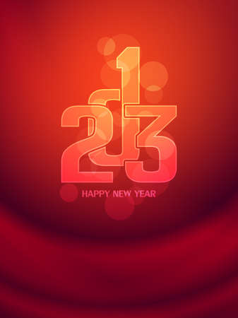 Beautiful happy new year 2013 background design Stock Vector - 17070876