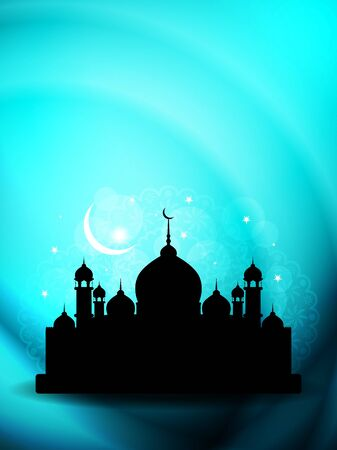 relegion: Artistic religious eid background with mosque