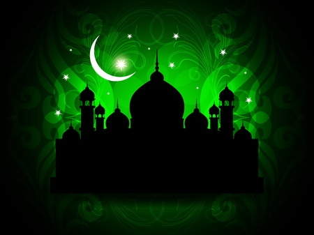 Abstract religious eid background with mosque. Stock Vector - 17127236