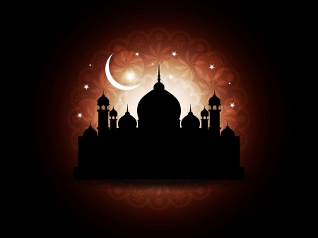 Abstract religious eid background with mosque.  Stock Vector - 17127235