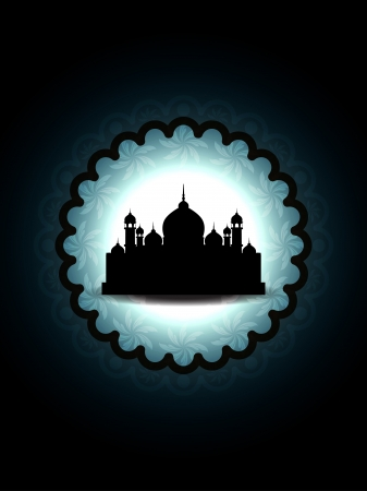 Artistic religious eid background with mosque. Stock Vector - 17128724
