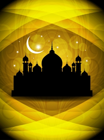 Abstract religious eid background with mosque. Stock Vector - 17128930
