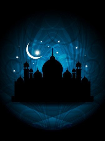 Abstract religious eid background with mosque. Stock Vector - 17129265