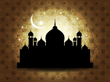 Abstract religious eid background with mosque. Stock Vector - 17129266