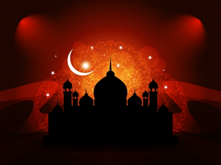 Abstract religious eid background with mosque.  Stock Vector - 17129269
