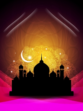 relegion: Abstract religious eid background with mosque.
