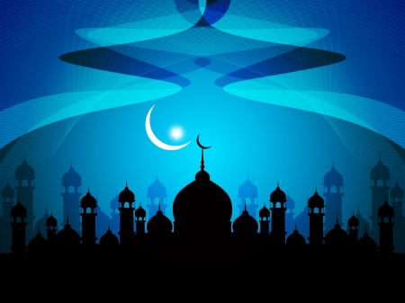 Abstract religious eid background with mosque.  Stock Vector - 17130324