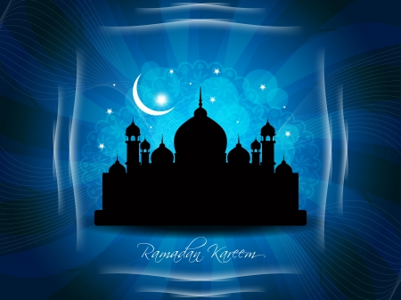 Artistic religious eid background with mosque. Stock Vector - 17130328