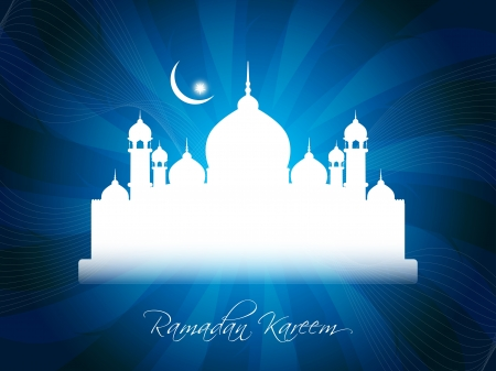 Artistic religious eid background with mosque. Stock Vector - 17130333