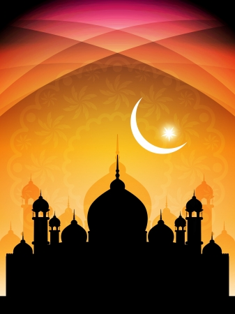 ramazan: Abstract religious eid background with mosque.