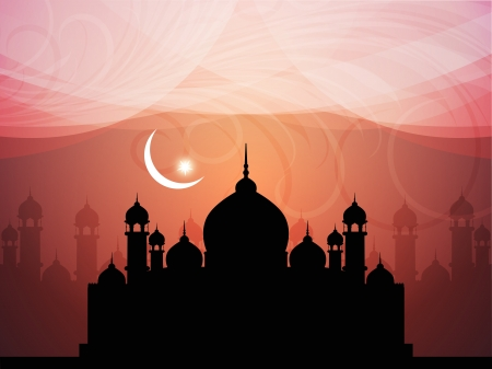 Abstract religious eid background with mosque. Stock Vector - 17132571