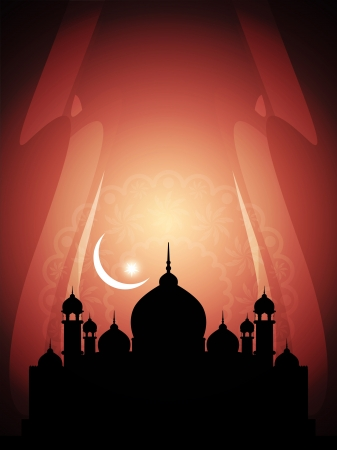 Abstract religious eid background with mosque. Stock Vector - 17132573