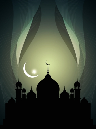 Abstract religious eid background with mosque. Stock Vector - 17132574
