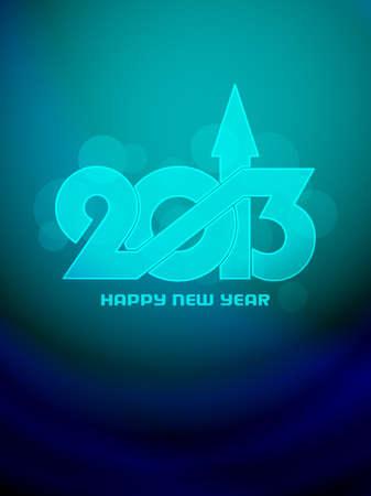 Beautiful happy new year 2013 design. Stock Vector - 17147802