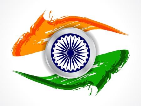indian festival: Beautiful Indian flag design