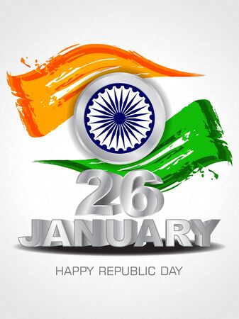26: Beautiful background design for Indian republic day
