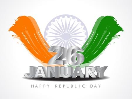 Beautiful Indian flag design Stock Vector - 17439817