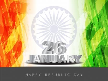 Beautiful Indian flag design Vector