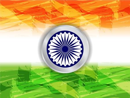 Beautiful Indian flag design Stock Vector - 17439840